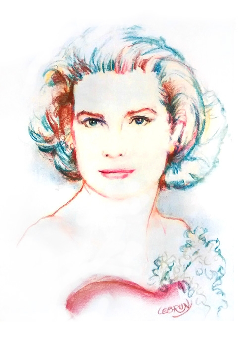 Grace Kelly by Lebrun